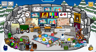 Saraapril in Club Penguin: Secret Agent HQ Igloo :)