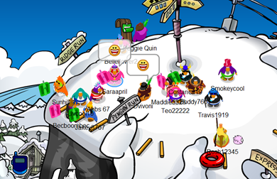 Racing Sled Club Penguin