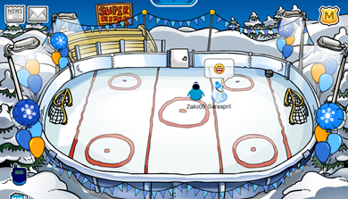 Ice Rink in Club Penguin