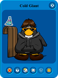 Cold Giant in Club Penguin
