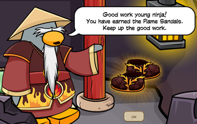 Sensei Flame Sandals FIRE Card-Jitsu