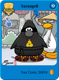 Sensei and Flame Sandals Club Penguin