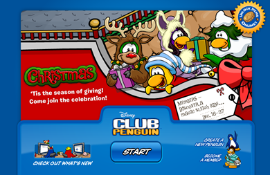 Opening Picture in Club Penguin