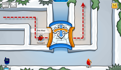 Great Snow Maze in Club Penguin