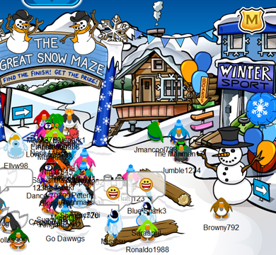 Ski Village in Club Penguin