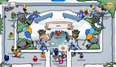 Snow Maze  in Club Penguin