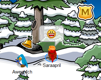 Christmas Bell Pin Club Penguin