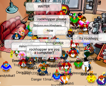 Rockhopper and in Yarr Club Penguin