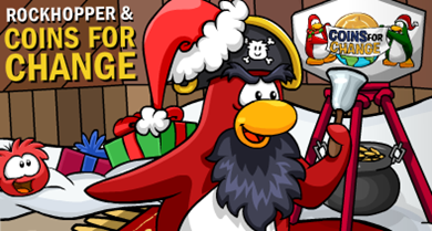 Rockhopper and Coins for Change