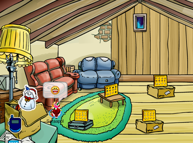 Snowman Pin in Club Penguin :)