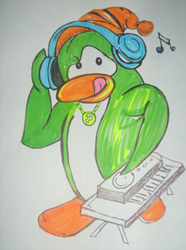 Fan Art in Club Penguin :)