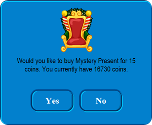 Mystery Present in Club Penguin