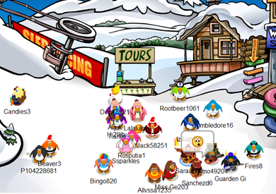 Fire Ninjas in Ski Village