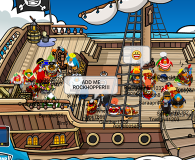 Rockhopper on The Migrator :)