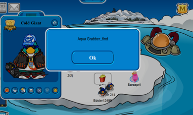Aqua Grabber Message BUG!