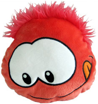 Club Penguin Puffle Cushion – Red :)