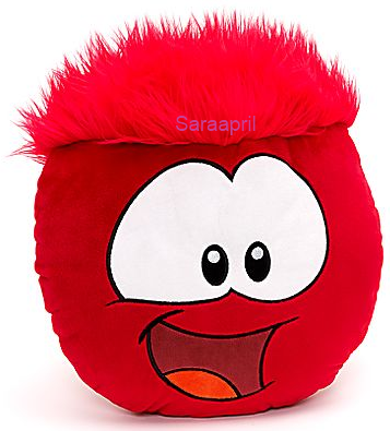 Red Puffle Big Face Cushion :)