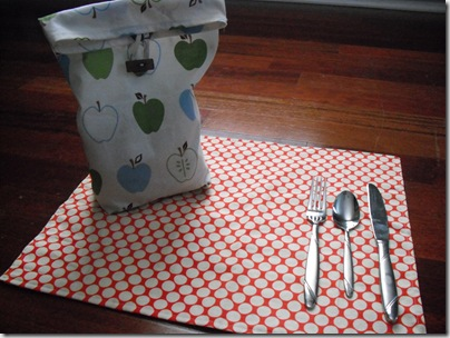 Lunch Bag, Silverware Pouch 2