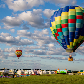Early Morning Launch by Dave Dabour - Transportation Other ( hot air balloon, 2014. media day, balloon festival, sunrise, nj festival of ballooning,  )