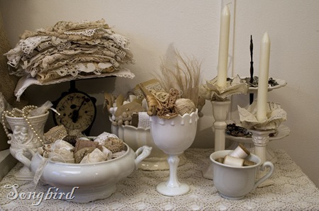 White corner in craft room