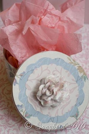 Rose box pink tissue