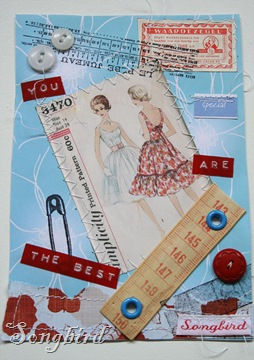Card sewing notions