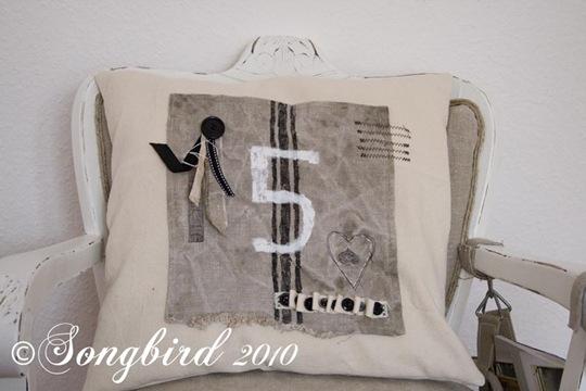 Black Number Pillow 3
