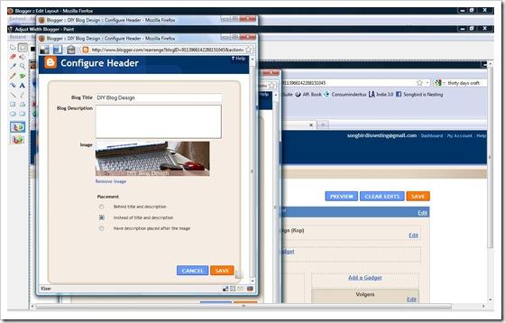 Configure Header Blogger