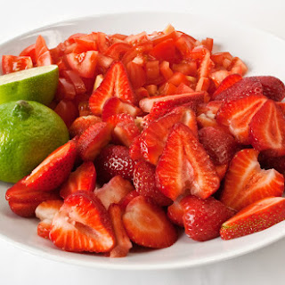Fresh Strawberry-Tomato Dessert Sauce.