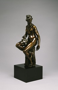 After Giambologna (Flemish, 1529-1608). 'Allegory of Architecture,' ca. 1580 (model); 18th century (cast). brass. Walters Art Museum (54.689): Acquired by Henry Walters.