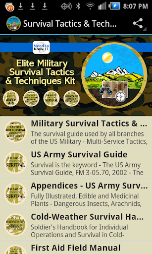 Military Survival Tactics Kit