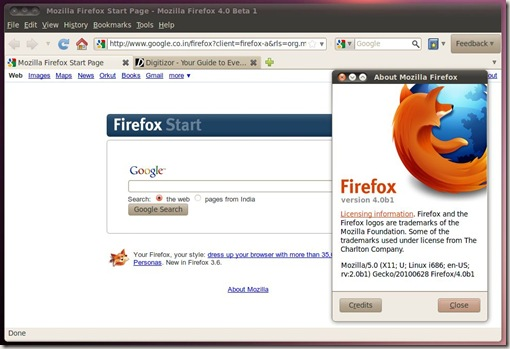 Hasi's Journal: Mozilla Firefox 4 0 beta is available to download