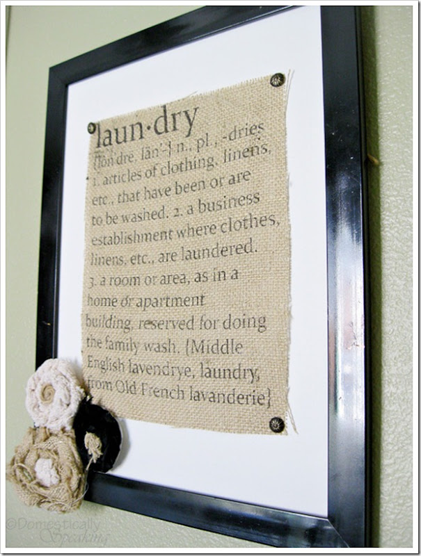 How to Print on Burlap and make this Laundry Defined Sign