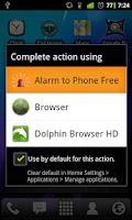 Screenshot of Alarm to Phone Free