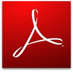 adobe reader 9 logo icon