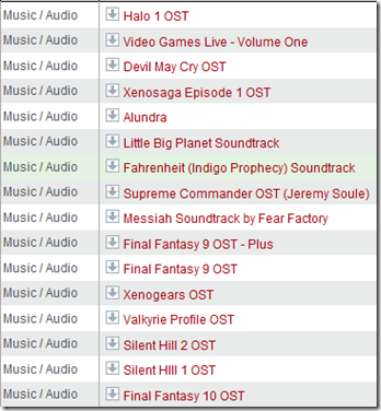 vgmTorrents screenshot