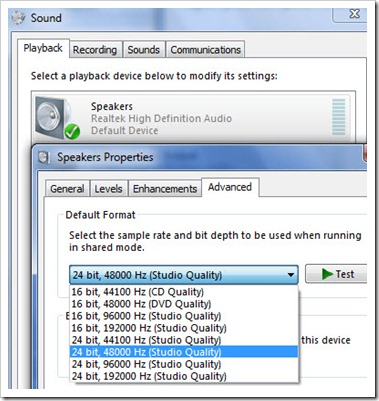 Windows 7 Sound Fix