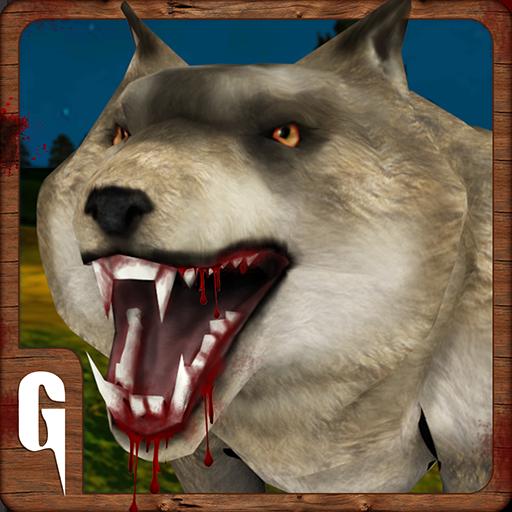 模拟の野生の怒っている灰色オオカミの攻撃 LOGO-記事Game