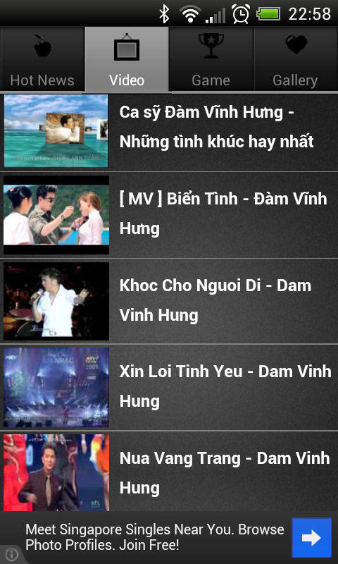 Dam Vinh Hung Songs Live Show* - screenshot