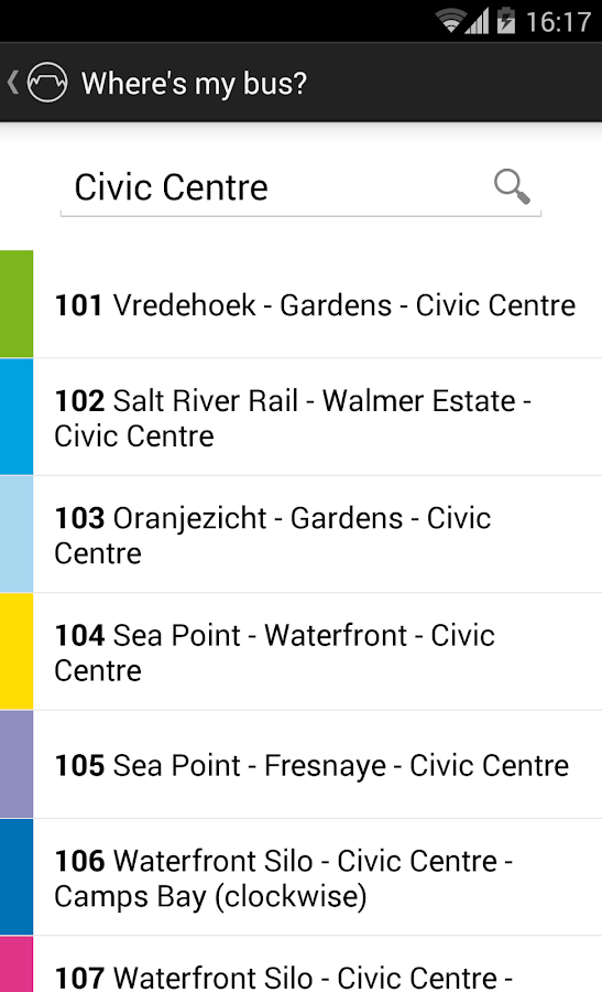 MyCiTi Cape Town- screenshot