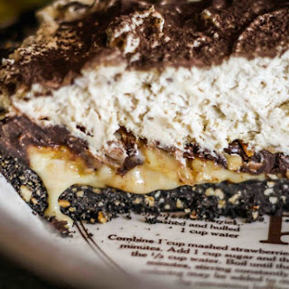 Chocolate Peanut Butter Banoffee Pie