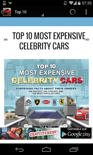 Top 10 Celebrity Cars