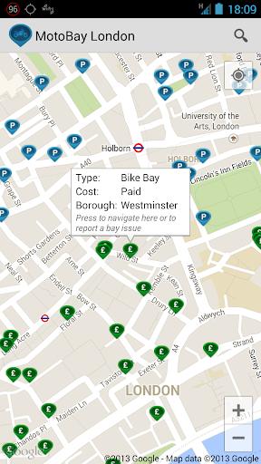 MotoBay Parking London screenshot