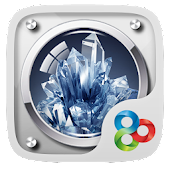 Crystal Glass GOLauncher Theme