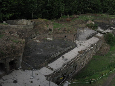 Fort Zachodni - widok ze schronu dowodzenia