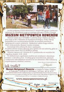 Muzeum Nietypowych Rowerów - ulotka