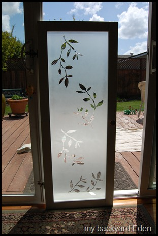 Remodelaholic Faux Frosted Glass Tutorial