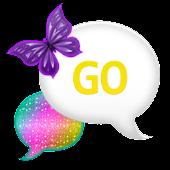 GO SMS - Bright Rainbow Sky