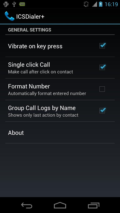 ICSDialer Plus - screenshot