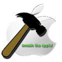 Smash the Apple logo